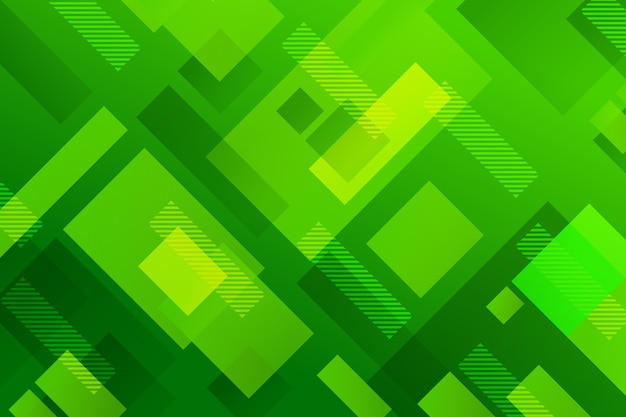 Abstract background with different green shapes