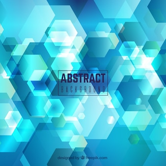 Abstract background with different shapes