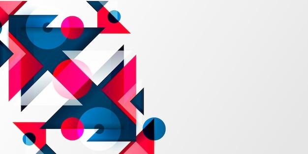 Абстрактный фон с разными формами