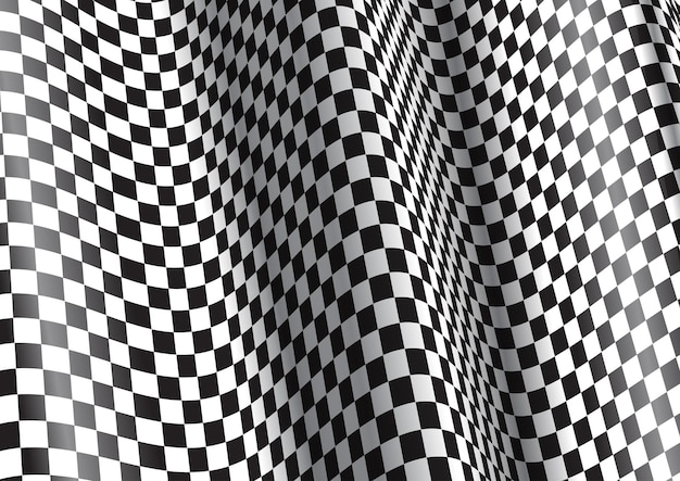Abstract background with a distorted checkered pattern