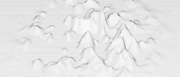 Abstract background with distorted line shapes on a white background