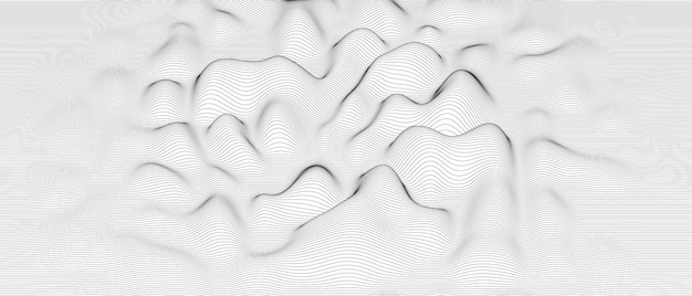 Abstract background with distorted line shapes
