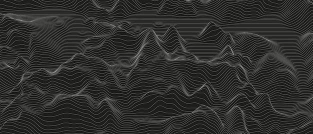 歪んだ線の形と抽象的な背景