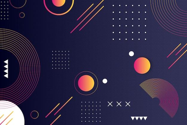 Абстрактный фон с точками и линиями