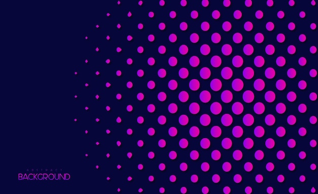 Abstract background with dots and colorful shapes premium vector