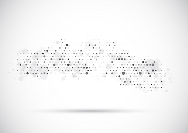 Abstract background with dots design