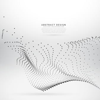 Abstract background with dots, particle effect
