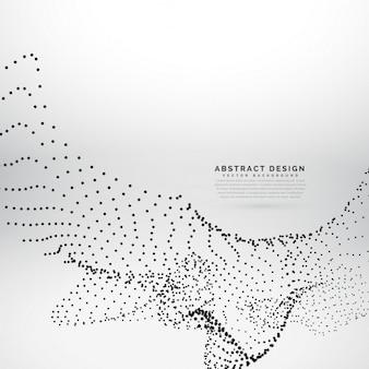 抽象粒子はデジタルスタイルで波