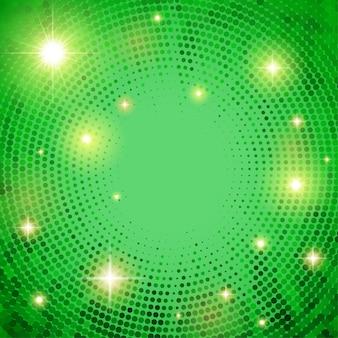 点線の円と抽象的な背景