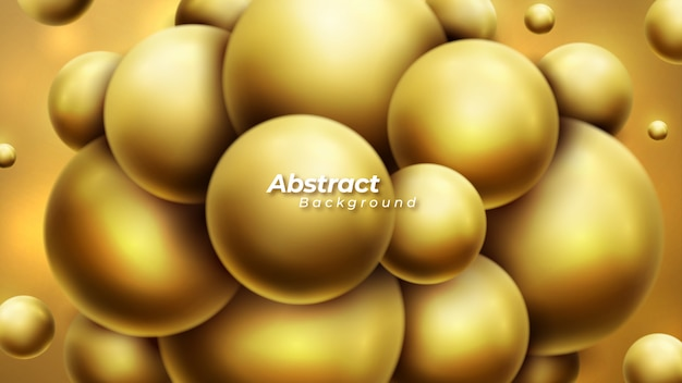 Abstract background with dynamic 3d balls.