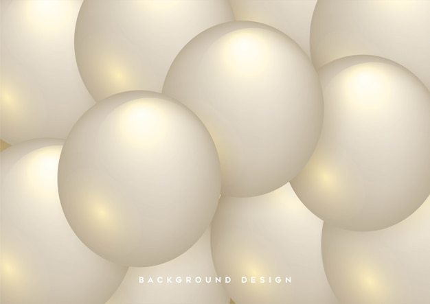 Abstract background with dynamic 3d spheres