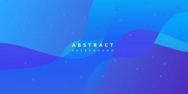 역동적 인 활기찬 블루 웨이브 그라데이션으로 추상적 인 배경