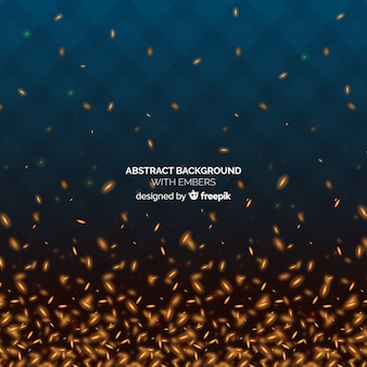Abstract background with embers