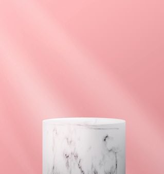 Abstract background with empty marble podium in a minimalistic style.