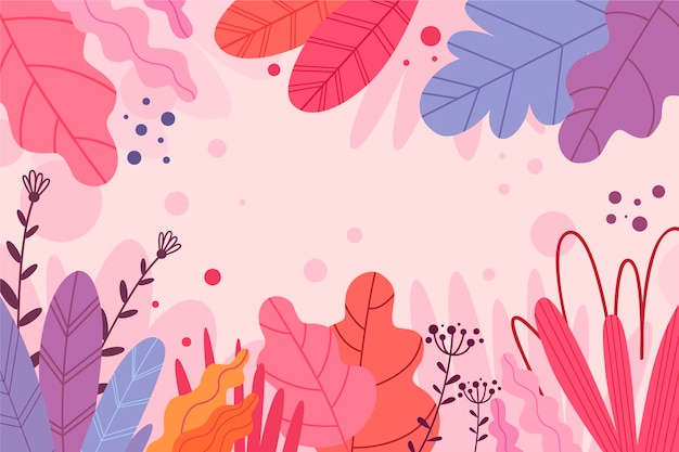 Abstract background with exotic copy space flowers