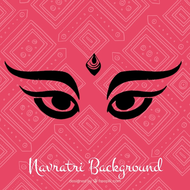 Abstract background with eyes of durga goddess
