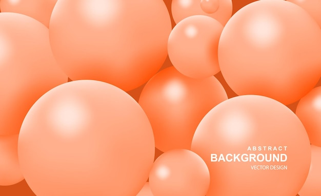 Abstract background with falling realistic  balls dynamic flying colorful bubbles