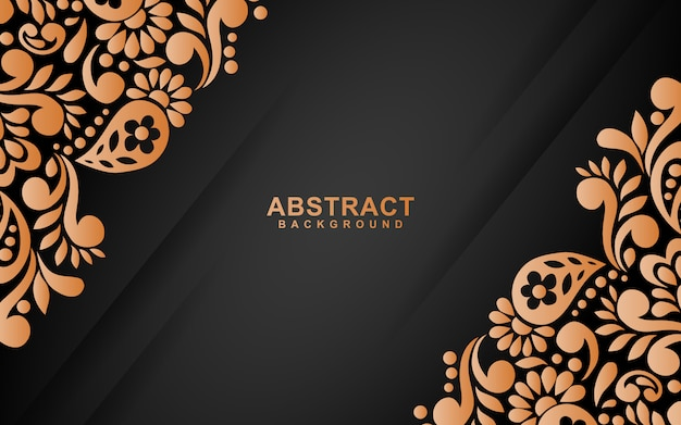 Abstract background with floral style