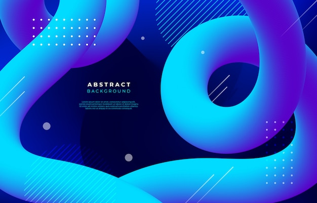 Abstract background with flow and linear shapes