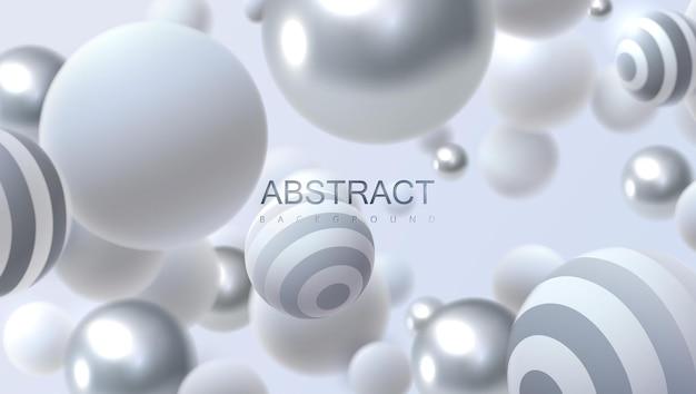 流れる泡と抽象的な背景