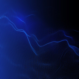 Abstract background with a flowing particles design