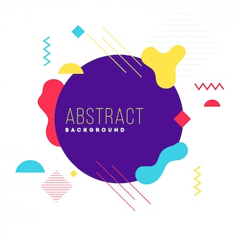 Abstract background with fluid art elements in flat style.