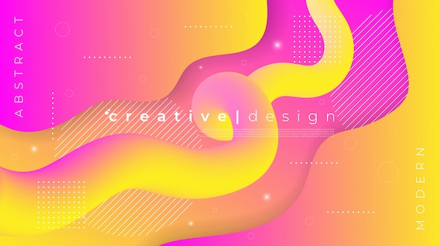 Abstract background with fluid liquid and wave paper cut element
