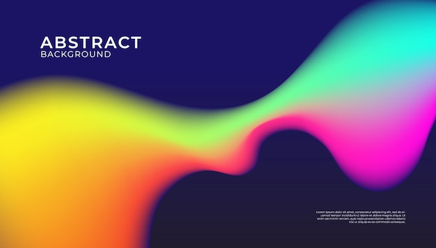 Abstract background with fluid shape