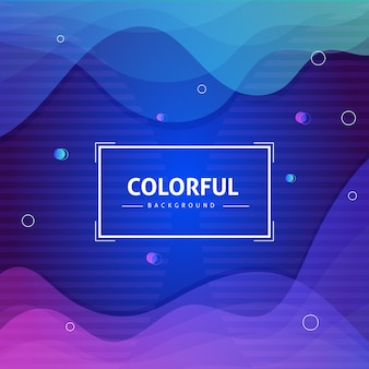 Abstract background with fluid shapes composition