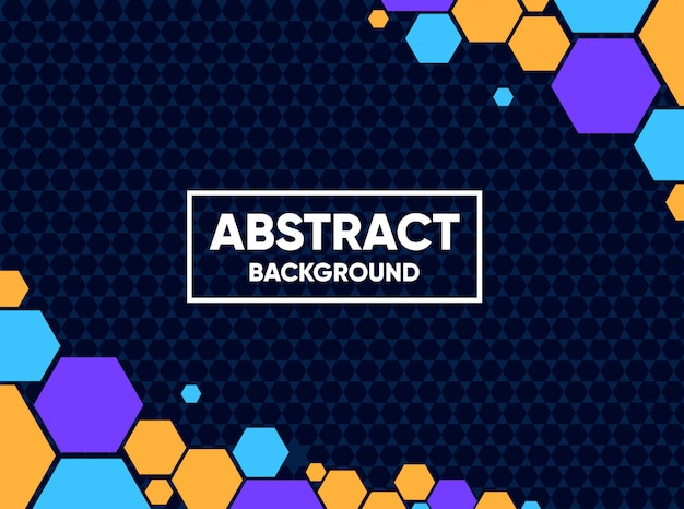 Abstract background with full color hexagonal shapes