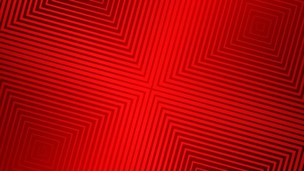 赤い色の幾何学的なハーフトーンデザインと抽象的な背景