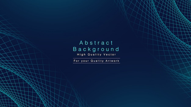 Abstract background with geometric line in cyan tone.