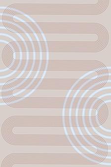 보헤미안 스타일의 기하학적 모양과 무지개 선이 있는 추상 배경