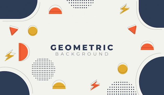 Abstract background with geometric shapes template
