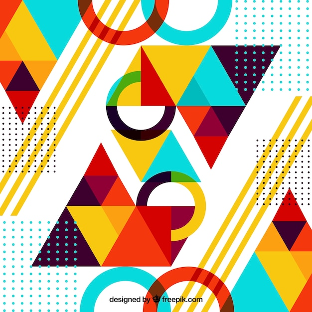Free Abstract Background With Geometric Shapes Svg Dxf Eps