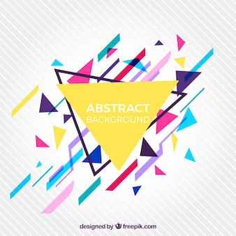 Abstract background with geometric style