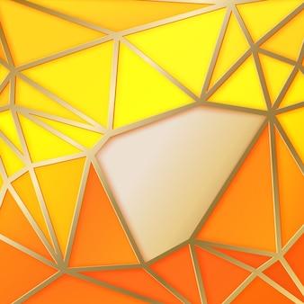 幾何学的三角形の抽象的な背景