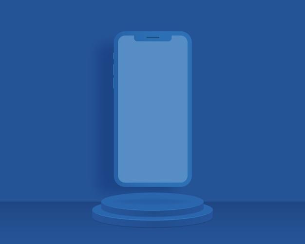 Абстрактный фон с геометрическими формами и смартфон. дизайн для презентации продукта.