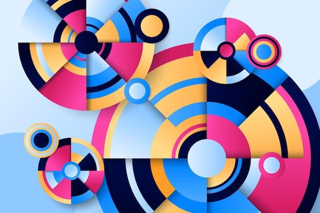 Абстрактный фон с геометрическими фигурами