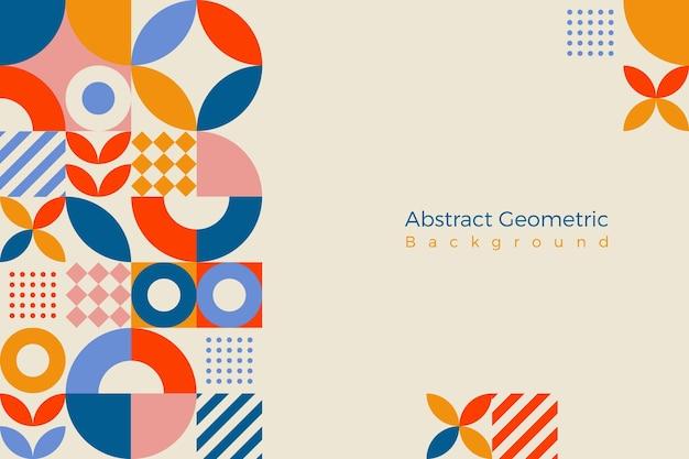 Geomitrc形の抽象的な背景