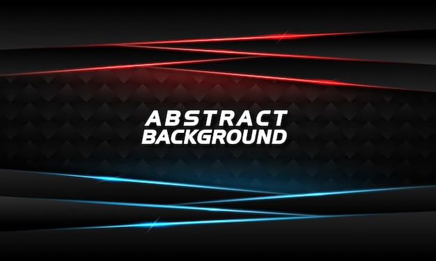Abstract background with glowing blue and red lines