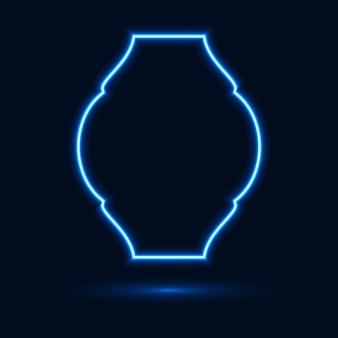 Sfondo astratto con un'insegna al neon incandescente