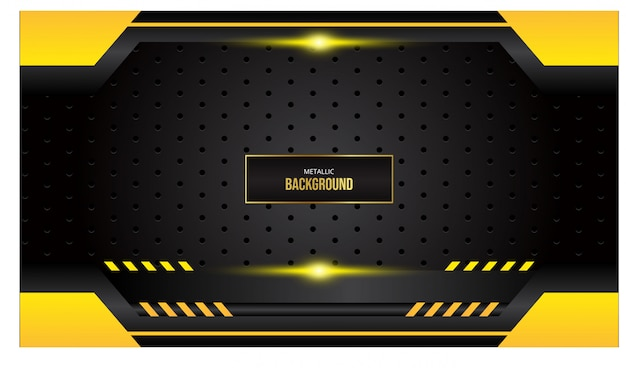 Abstract background with gold border on black background