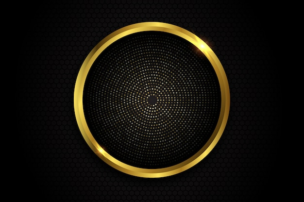 Abstract background with gold circle glitter