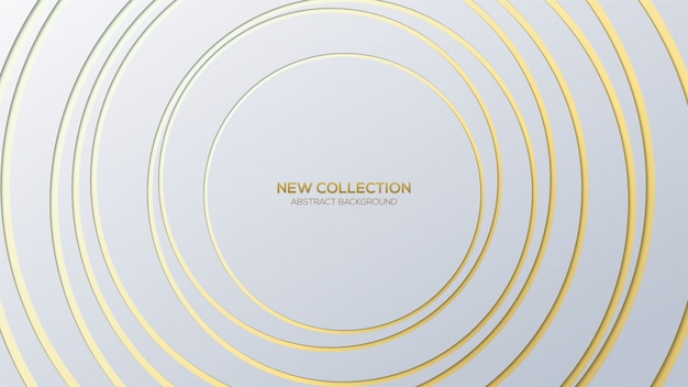 Abstract background with gold colored stripes on a white background.