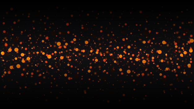 Abstract background with gold particles