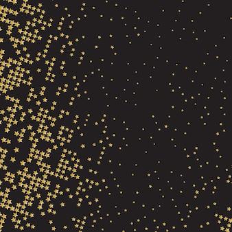 Абстрактный фон с золотой конфетти звезды