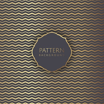 Abstract background with gold zig zag pattern