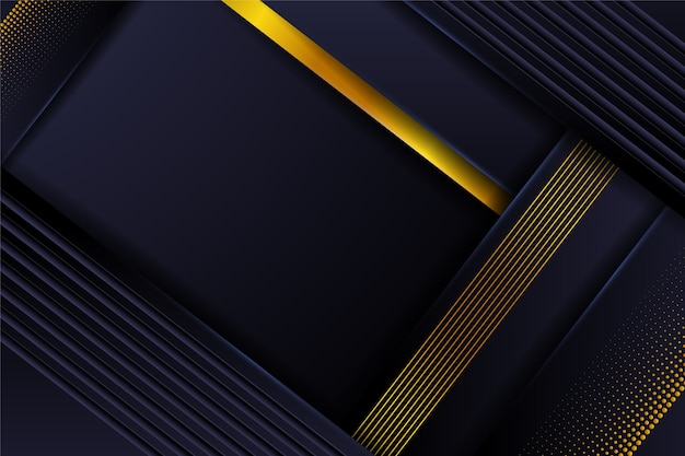 Abstract background with golden details