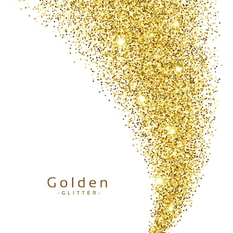 Abstract background with golden glitter